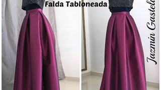 getlinkyoutube.com-Falda Tabloneada Larga - Jazmin Gastelum