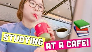 STUDY SESSION AT A CAFE | MED SCHOOL STUDENT LIFE | twinklinglena