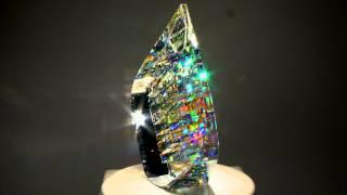 getlinkyoutube.com-Optical Glass Sculptures by fine art glass artist Jack Storms - The Glass Sculptor