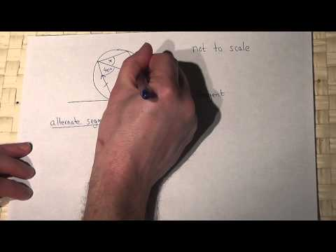 Circle Theorems: the alternate segment theorem example