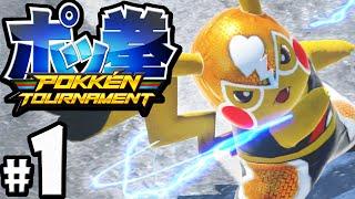 getlinkyoutube.com-Pokken Tournament Gameplay Walkthrough PART 1 Pokemon x Tekken! Nintendo Wii U 60fps Pikachu Libre