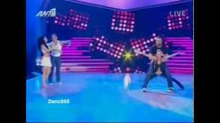 getlinkyoutube.com-Savvas Poumpouras & Dimitris Blaxos (12o Live) - Dancing with the stars Greece