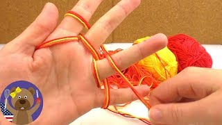 Fingerknitting for Beginners | Tutorial : How to Knit with your Fingers | Scalf for Baby or Doll
