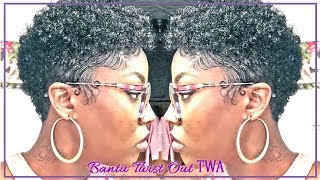 getlinkyoutube.com-How to Bantu Knot Twist out| 3C TWA Easy Method