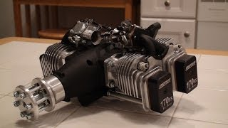 getlinkyoutube.com-Unboxing the Rotomotor 170 FS - 170cc 4 Stroke 4 Cylinder Gas RC Engine!