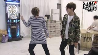 [ENG] 160913 [BANGTAN BOMB] Free dance time with JIMIN&V