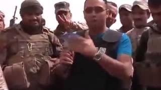 بسبب لقاء تلفزينوني تمكن القناص الداعشي من مشاهدة الجنود مجزره (الثرثار)