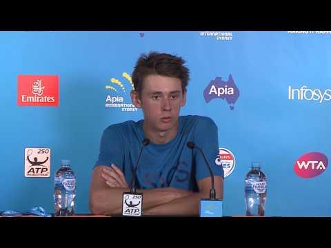 Alex De Minaur Press Conference (R2) | Apia International Sydney 2017
