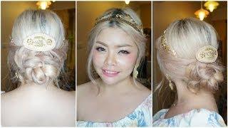getlinkyoutube.com-Hair Tutorial: สอนเกล้าผมฟรุ้งฟริ้งสไตล์เจ้าหญิง