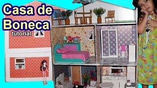 getlinkyoutube.com-Tutorial: Como fazer uma casa de boneca de papelão para Barbie, Monster High, Frozen, EAH, EG, etc