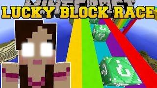 getlinkyoutube.com-Minecraft: EVIL JEN'S EMERALD LUCKY BLOCK RACE - Lucky Block Mod - Modded Mini-Game