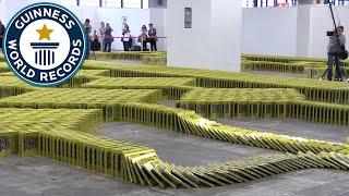 getlinkyoutube.com-Book Dominoes - Guinness World Records 2016