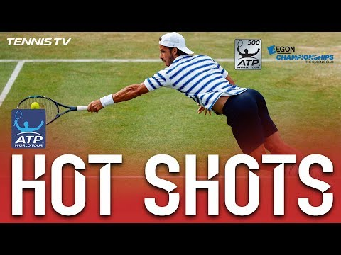 Hot Shot: Lopez Diving Volley At Queen`s Club 2017