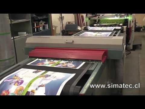 Impresora serigráfica IMAH - industria brasilera