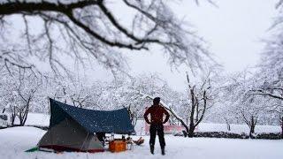 2017.1.14,15 82回目 大津谷で雪のソロキャンプの動画