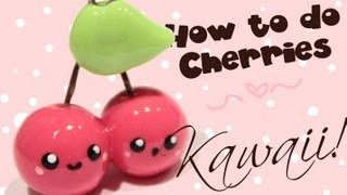 getlinkyoutube.com-◕‿‿◕ Cherries! Kawaii Friday 70 (Tutorial in Polymer Clay)