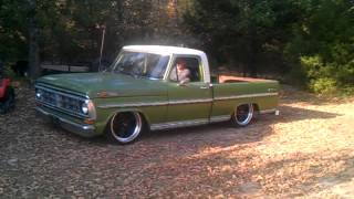 72 Ford f100 airbag demo