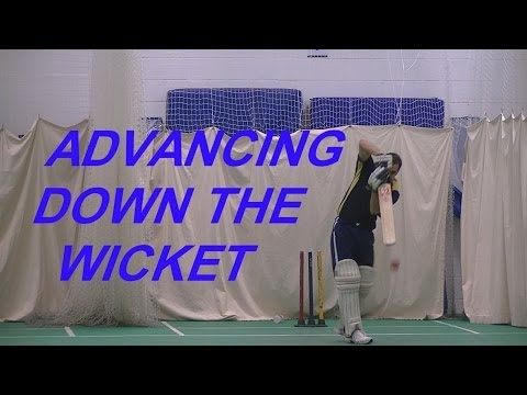 Cricket Batting Tips On Coming Down The Wicket 4 A Left Handed Batsman