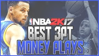 NBA 2K17 BEST 3 POINT PLAYS! NBA 2K17 Tips for Best Money Plays in 2K