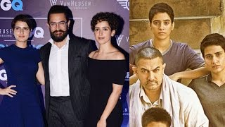 getlinkyoutube.com-Aamir Khan With His CUTE Daughters/Actress In Dangal Movie at GQ Fashion Awards2016