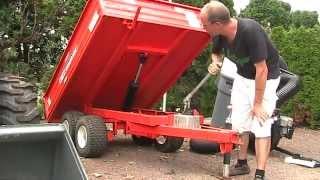 getlinkyoutube.com-Taylor-Way TP 4000 Trailer 1.5 ton capacity, Manual dump Text Video