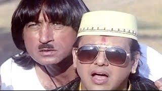 Raja Babu Comedy Scene - Govinda Helps Villagers width=
