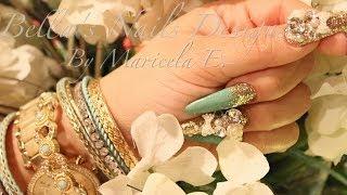 getlinkyoutube.com-ACRILYC NAILS: Shabby Chic Nails - kawaii Nails