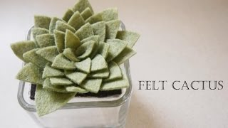 getlinkyoutube.com-How to make Felt Cactus