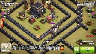 getlinkyoutube.com-Attackers' Nightmare | TH 9 War Base | 2 Air Sweeper (Cold Rush)