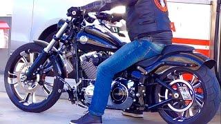 getlinkyoutube.com-Harley Davidson FXSB Breakout Rideout (Remo from Switzerland)