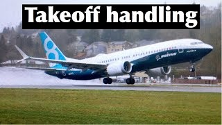Boeing aircraft Handling - Takeoff roll and rotation