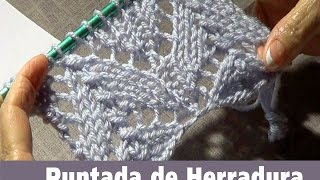 getlinkyoutube.com-Puntada Tejida de Herradura -Encaje Tejido