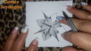 getlinkyoutube.com-How to draw Stella tangle pattern ?