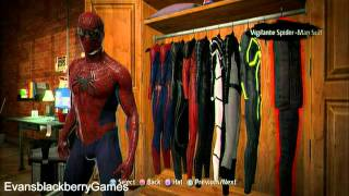 getlinkyoutube.com-The Amazing Spider-Man Game ALL Costumes (PS3)