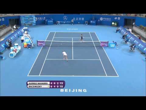 SHOT OF THE YEAR? Carla Suarez Navarro 2015 China Open Hot Shot