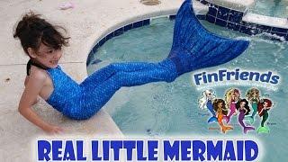 getlinkyoutube.com-Fin Fun Mermaid Tail Real Live Little Mermaid