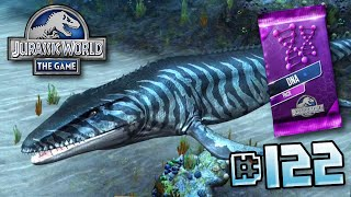 getlinkyoutube.com-Mosasaur levelled up & DNA Pack! || Jurassic World - The Game - Ep 122 HD