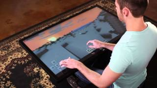 "getlinkyoutube.com-Playing Minecraft on 46"" Multitouch Coffee Table with Android 4.4 KitKat"