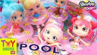 Shopkins Shoppies POOL FUN!! ORBEEZ!! Plus Mystery Fashem & Shopkins!