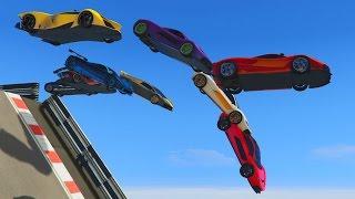 getlinkyoutube.com-CAIDA LIBRE!!!! - CARRERA GTA V ONLINE - GTA 5 ONLINE