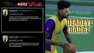 getlinkyoutube.com-NBA 2K16 Tips/Tricks - HOW TO GET DEADEYE BADGE | FASTEST WAY