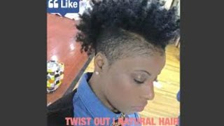 getlinkyoutube.com-TWIST OUT ON NATURAL SHORT HAIR |  SHAVED SIDES EDITION