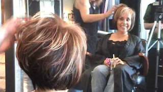 getlinkyoutube.com-Part 2 of 2 Layered Angled Modern Bob Hair Cut featuring Sharon .wmv