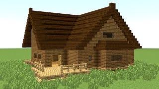 getlinkyoutube.com-MINECRAFT: How to build big wooden house #4