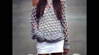 getlinkyoutube.com-Sweterek na szydełku cz 1 tutorial + nowy szydełkowy wzór