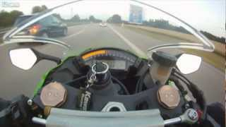 getlinkyoutube.com-Zx-10 being overtaken by an Audi RS6 at 300KPH Complete Edition[HD]