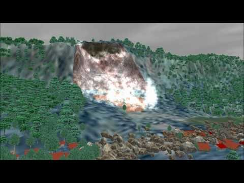 Landslide Simulation on Java Island, Indonesia