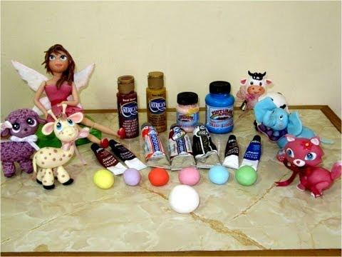 Como teñir y dar color a porcelana fría