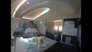 getlinkyoutube.com-Korean Air B747-8 First Class Review Hong Kong to Incheon