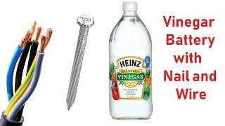 getlinkyoutube.com-Generate Electricity From Vinegar At Home - Cool Science Experiment